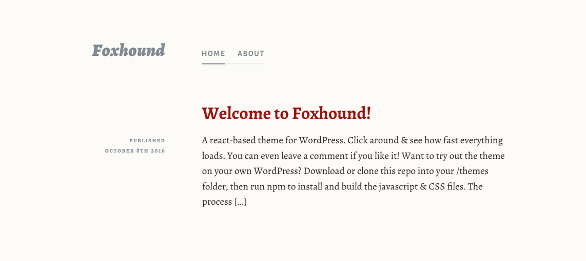 Foxhound Is the First REST API Powered Theme on WordPress.org