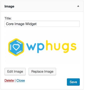 Core Image Widget