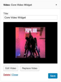 Core Video Widget