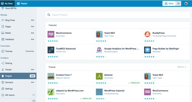 Adding Plugins on WordPress.com Through The Calypso Interface