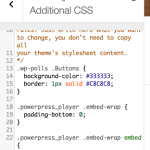 CodeMirror Used in Jetpack's Additional CSS Module