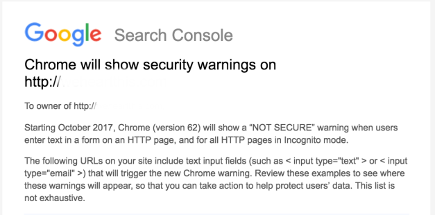 Google To Show Security Warnings on HTTP Pages Starting in October 2017 1
