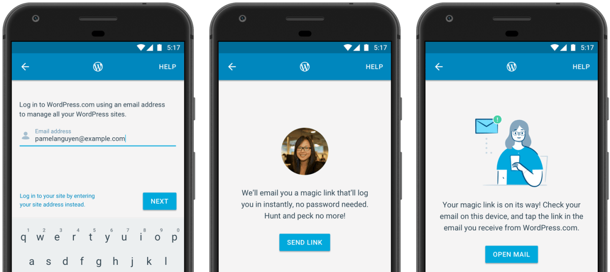 WordPress Mobile Apps Updated with a New Login Experience