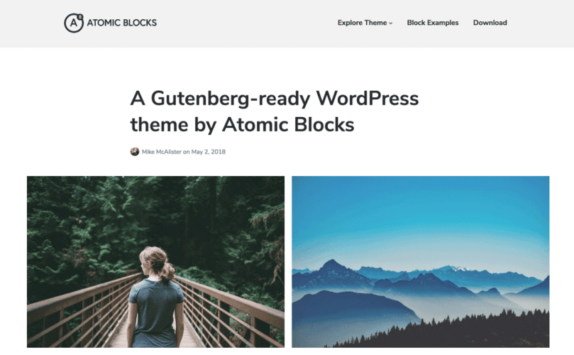 Array Launches Free Gutenberg-Ready Atomic Blocks Theme on WordPress.org