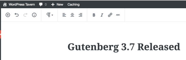 Unified Toolbar in Gutenberg
