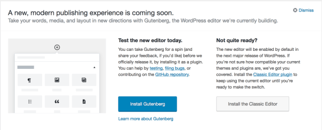 WP498GutenbergCallout WordPress 4.9.8 Released design tips