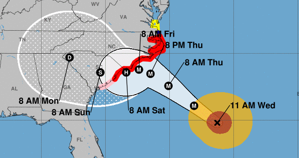 HurricaneFlorenceTracks WordCamp Wilmington Cancelled Due to Hurricane Florence design tips