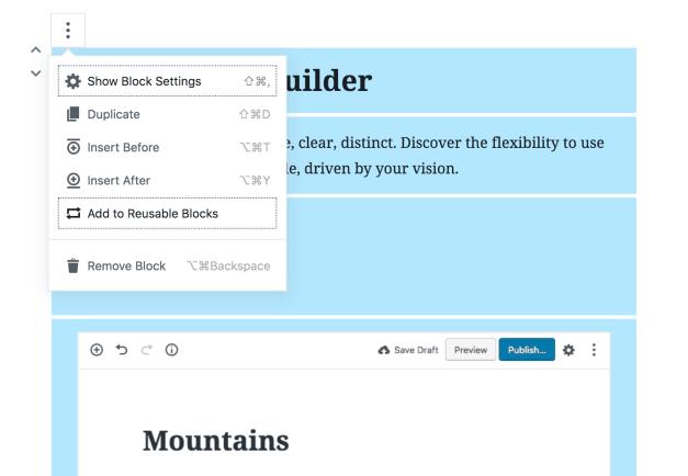Gutenberg 3.9 Introduces Reusable, Exportable Templates for Multiple Blocks - WordPress Tavern [en] @wptavern