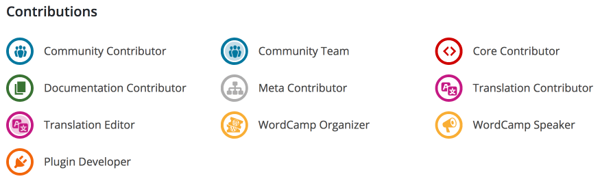 WordPress Contribution Profile Badges
