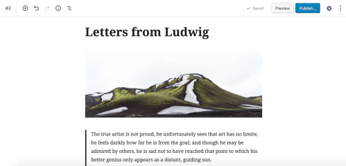 gutenberg-fullscreen Gutenberg for Writers: How to Configure the Editor for Fewer Distractions design tips