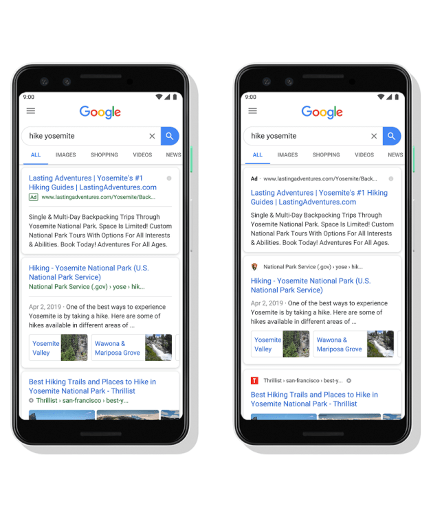 branded-mobile-search-results Google Updates Mobile Search Results to Include Website Branding design tips  News|favicon|google|search