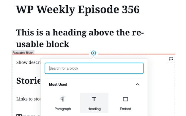 Experimenting With Reusable Blocks to Create Post Templates - WordPress Tavern [en] @wptavern