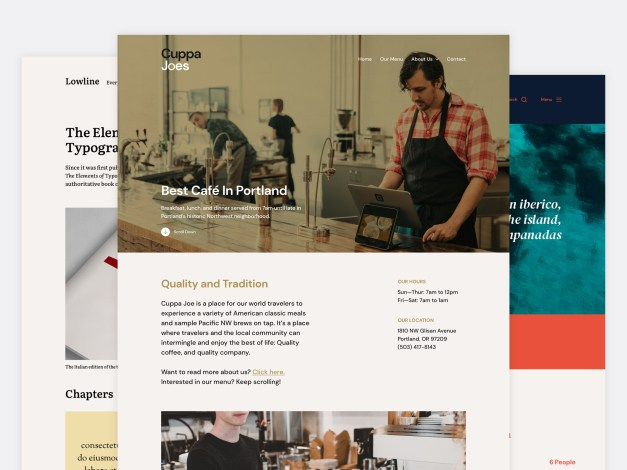 chaplin-collage-compressed Anders Norén Release Free Chaplin Theme Designed for Block Editor, Theme Authors Discuss Better Ways to Promote Truly Free Themes design tips  News|Themes|free wordpress themes