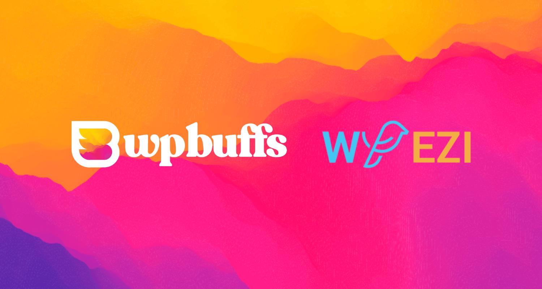 Imagem decorativa que exibe os logotipos WP Buffs e WP EZI.