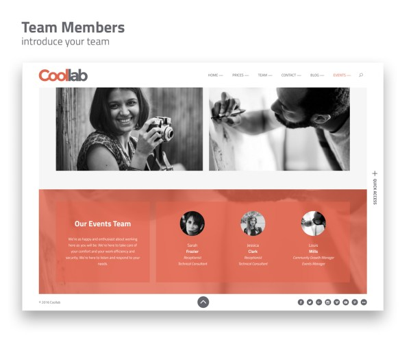 Introduce your team members.