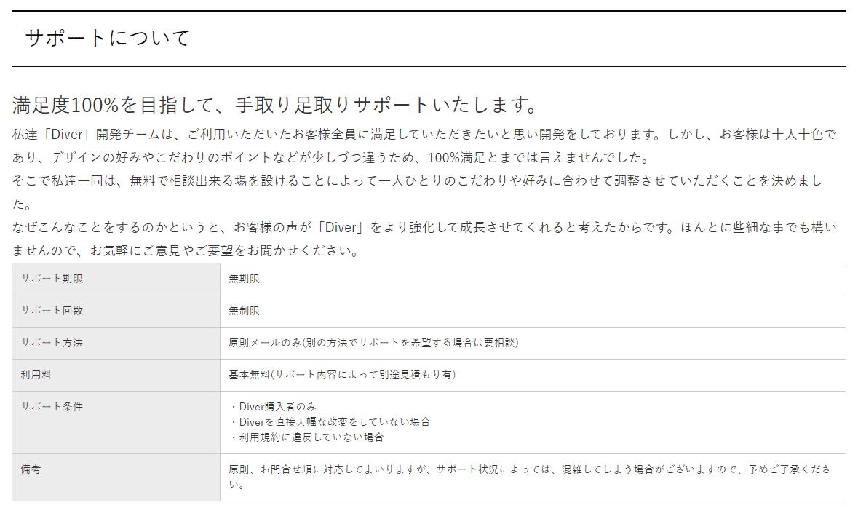 alt=WordPressテーマ DIVER(ダイバー) サポート2