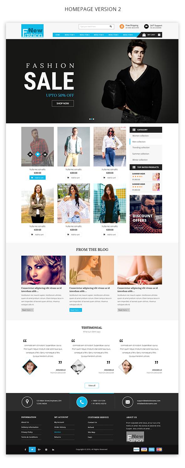 Fashion Multipurpose WooCommerce Theme - 2