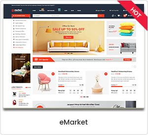 eMarket - eCommerce & Multipurpose Marketplace WooCommerce WordPress Theme