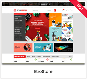 EtroStore - Electronics Store WooCommerce WordPress Theme
