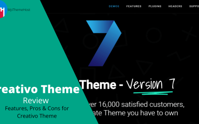 Creativo Theme Review – Features, Pros and Cons for Creativo Theme