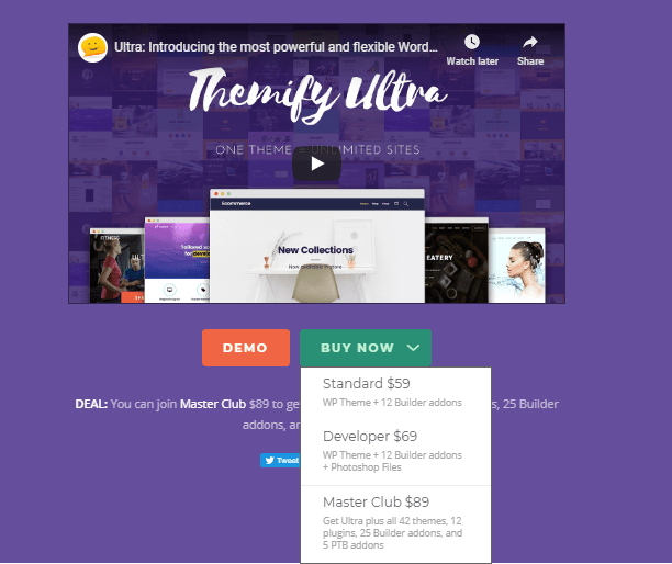 Themify Ultra price