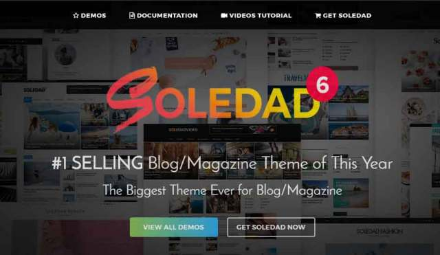 Soledad - Multi-Concept Blog Theme