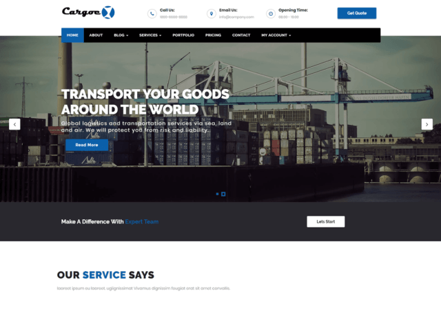 Cargoex By themeicy
