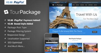 Wordpress Theme Tour Package