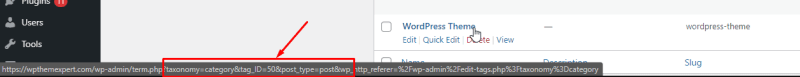 How do I find the category ID of a WordPress post?