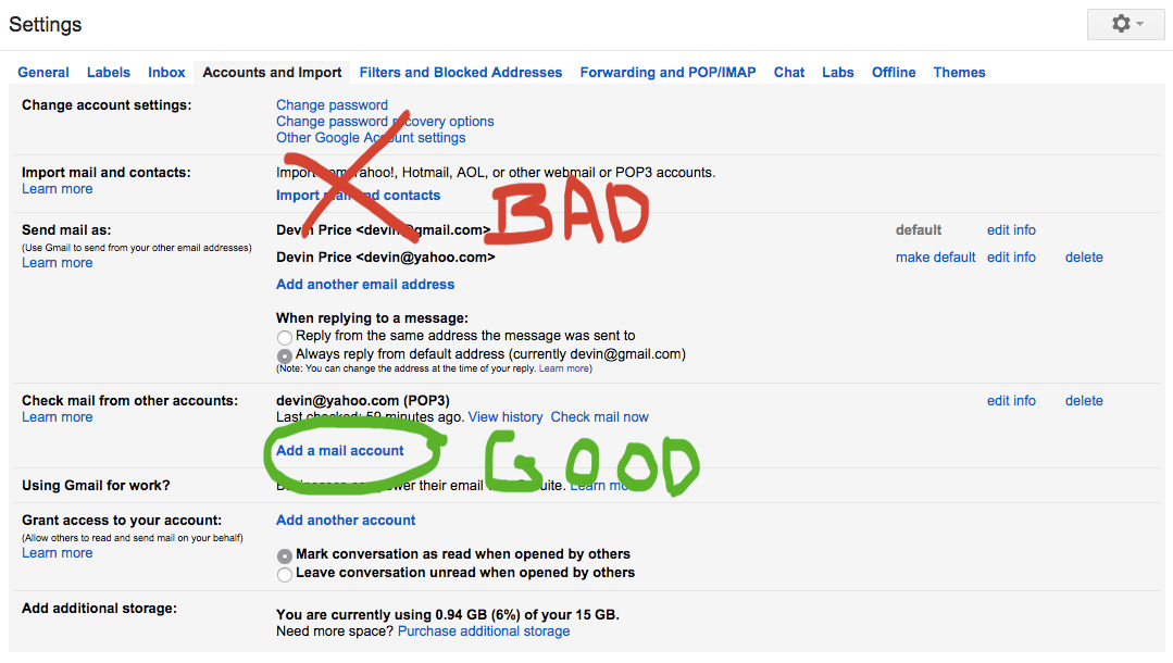 How to transfer emails from yahoo to gmail