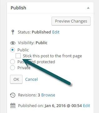 WordPress Sticky Post
