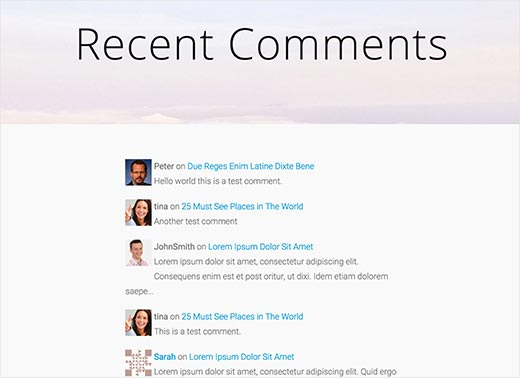 decent-comments-plugin-recent-comments-page