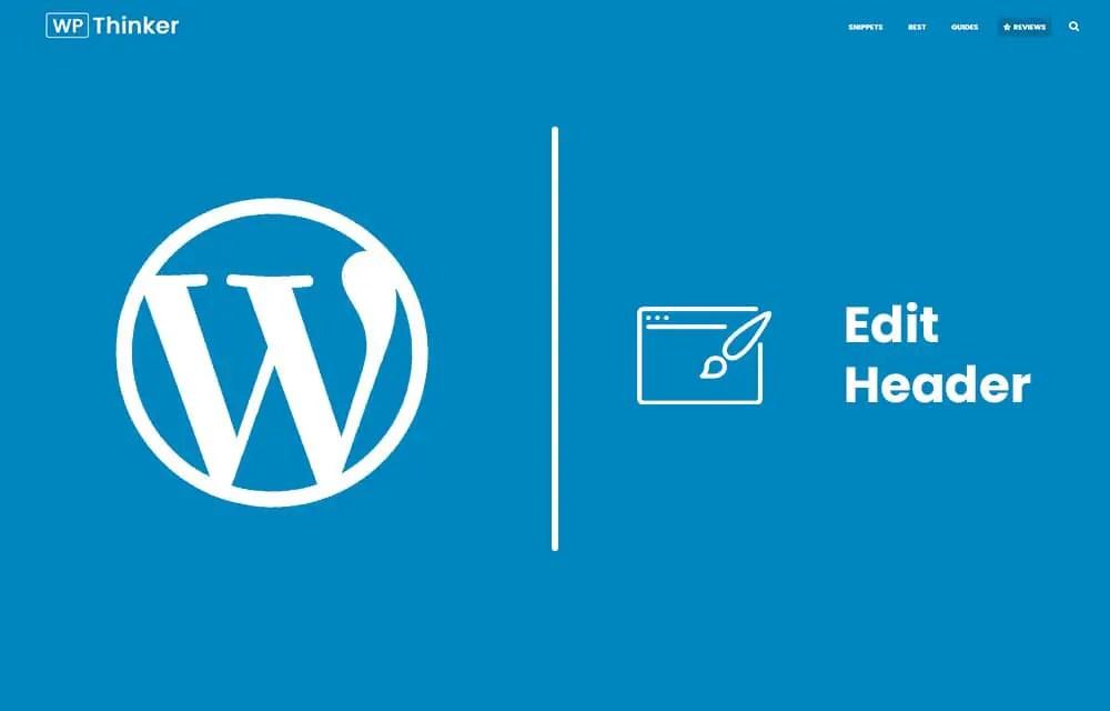 Edit WordPress Header