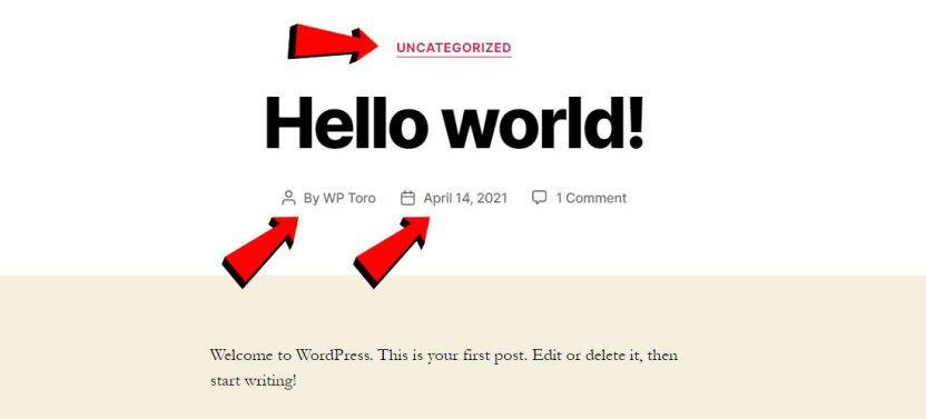 WordPress Metadata