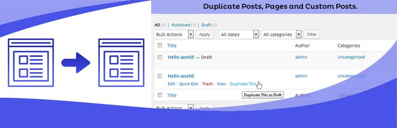 Duplicate Page WordPress plugin