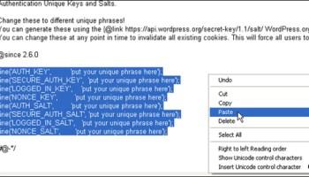 WordPress Security Keys
