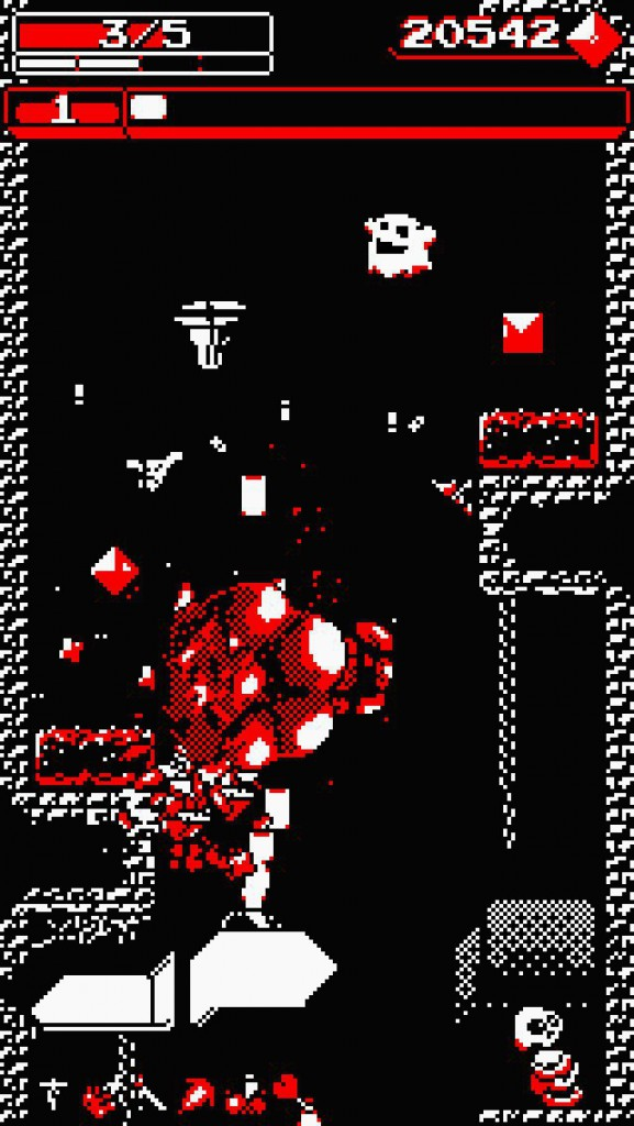 Fall and blast your way through danger in Downwell