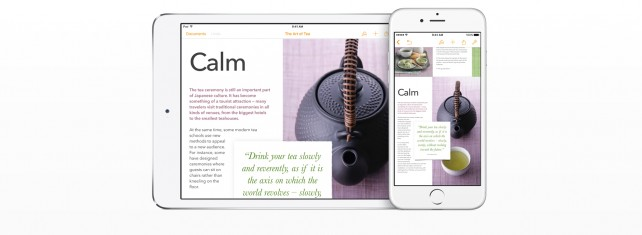 Apple updates the iWork suite for iOS 9 with 3D Touch, multitasking and more