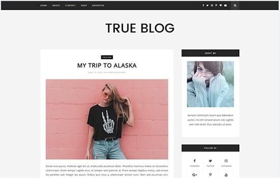 Kişisel blog teması.