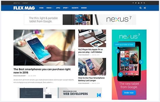 Magazin, haber ve blog teması.