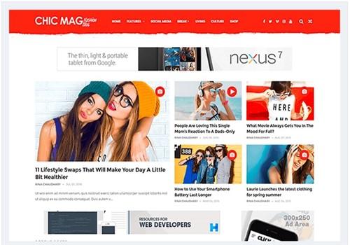 Chicmag Blogger mobil uyumlu Teması