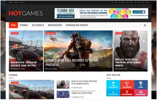 Haber, oyun, dergi ve blog teması.