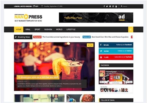 Nanopress Blogger Teması