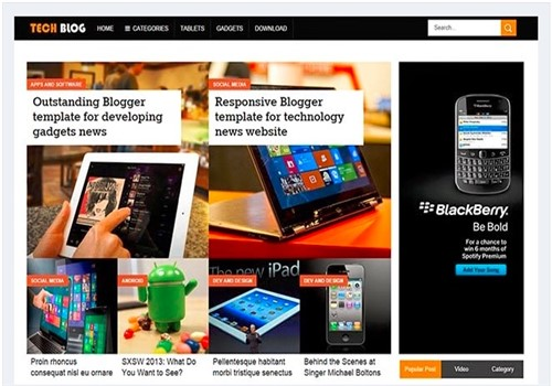 Techblog Blogger teknoloji En İyi Tema