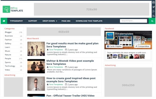 Teknoloji blog teması.