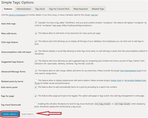 Wordpress simple tags eklentisi