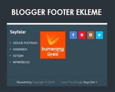 blogger footer ekleme kodu