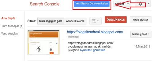 Yeni Google Search Console Kayıt Etmek