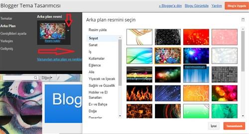 Blogger Tema resim ekleme Düzenleme