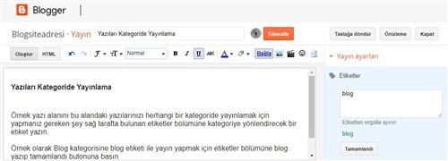 Blogger yeni yayın